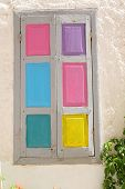 picture of louvers  - Colorful windows with louvered shutters architecture home - JPG