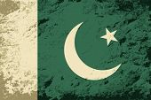 pic of pakistani  - Pakistani flag Grunge background - JPG