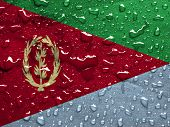 foto of eritrea  - a flag of Eritrea with rain drops - JPG