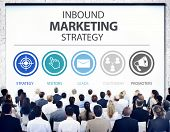 foto of strategy  - Inbound Marketing Strategy Advertisement Commercial Branding Concept - JPG
