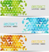 stock photo of brochure design  - Vector Abstract retro geometric background - JPG
