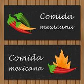 foto of mexican food  - Template for menu or booklet with cartoon mexican food for your design - JPG