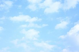 image of spring-weather  - Light blue spring sky with clouds - JPG