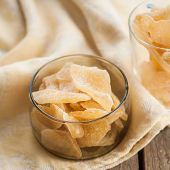 pic of crystal glass  - Candied Crystallized Ginger in Glass Bowls square - JPG