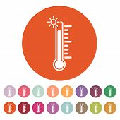 stock photo of fahrenheit thermometer  - The thermometer icon - JPG