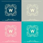 picture of boutique  - Monogram  luxury logo template with flourishes calligraphic elegant ornament elements - JPG