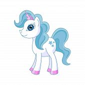 picture of pony  - Vector illustration of cute horse princess - JPG