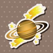 stock photo of earth mars jupiter saturn uranus  - Space Planet Theme Elements - JPG