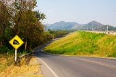 stock photo of dam  - beautiful Thailand Local Road with natural dam - JPG