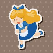stock photo of alice wonderland  - Alice In Wonderland Theme Elements - JPG