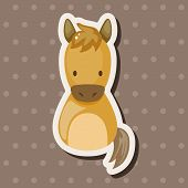 stock photo of chinese zodiac  - Chinese Zodiac Horse Theme Elements - JPG