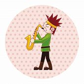 picture of saxophone player  - Character Musician Saxophone Theme Elements - JPG