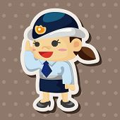 stock photo of policeman  - Policeman Theme Elements - JPG