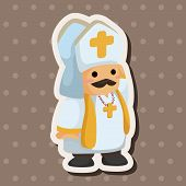 picture of nun  - Pastor And Nun Theme Elements - JPG