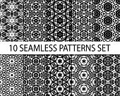pic of ten  - Set of geometric seamless patterns - JPG