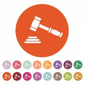 foto of symbol justice  - The judge or auction hammer icon - JPG