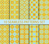 image of ten  - Set of geometric seamless patterns - JPG