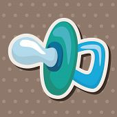 stock photo of pacifier  - Baby Pacifiers Theme Elements - JPG