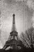 Постер, плакат: Эйфелева башня Париж Франция