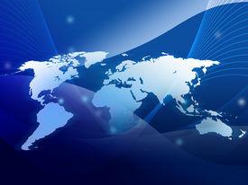 stock photo of united states map  - world map technology - JPG