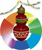 pic of kalash  - Festival Design Divine Mangal Kalash with coconut - JPG