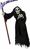 foto of grim-reaper  - Halloween horrible Grim Reaper - JPG