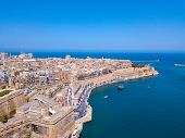 Valletta, Malta Panorama - The Traditional Houses And Walls Of Valletta, The Capital City Of Malta O poster