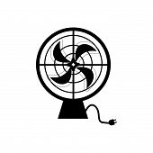 Cooling Fan Vector Icon On White Background. Cooling Fan Modern Icon For Graphic And Web Design. Coo poster