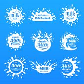Yogurt Splash Silhouette, Drink Milks Macula Or Milky Drink Blot. Natural Organic Yoghurt Cream Or B poster