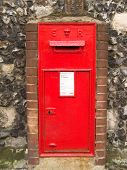 Old British Postbox poster
