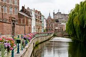 foto of gents  - Historic centre of Ghent view of Prinsenhof and Gravensteen - JPG