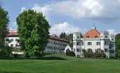 stock photo of sissy  - castle named Schloss Possenhofen in Bavaria  - JPG