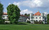 stock photo of sissi  - castle named Schloss Possenhofen in Bavaria  - JPG