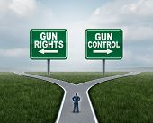 Gun Control Or Guns Control And Second Amendment United States Debate As A Government Firearms Feder poster