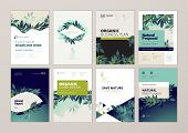 Set Of Brochure And Annual Report Cover Design Templates On The Subject Of Nature, Environment And O poster