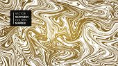Marble Gold And White Texture Seamless Background. Abstract Golden Glitter Marbling Seamless Pattern poster