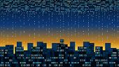 Abstract Futuristic City With The Artificial Intelligence And Internet Of Things, Big Data, Smart Ci poster