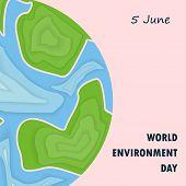 World Environment Day Concept Vector Logo Design Template.june 5st World Environment Day Concept.wor poster