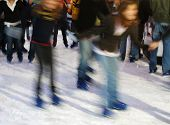Ice Skaters Having Fun