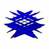 Постер, плакат: 3D логотип пересечение плоскостей