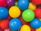 Bright Multi-colored Balls For The Pool For Childrens Games.toys For Children,entertainment For Kids poster