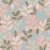 Wrapping Tea Leaves Pattern Seamless Vector. Minimal Tea Plant Bush Leaves Floral Fabric Design. Her poster