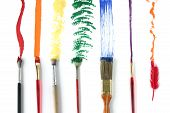 foto of paint brush  - different strokes for different folks - JPG