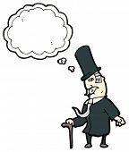 stock photo of gents  - cartoon victorian gent - JPG