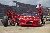 BROOKLYN, MI - JUN 17, 2012:  Jamie McMurray (1) brings in his McDonalds Chevrolet for service durin