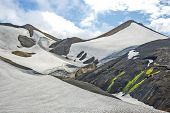 Beautiful And Colorful Mountain Landscape In Landmannalaugar, Iceland. Nature And Places For Wonderf poster