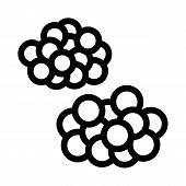 Caviar Heaps Icon Vector. Outline Caviar Heaps Sign. Isolated Contour Symbol Illustration poster