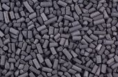 Activated Carbon Granules Close Up