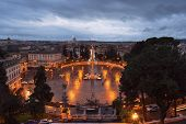 Rainy Evening Sky Over Rome And The Enlightenment Over The Vatican City