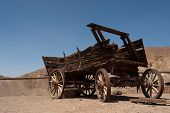 foto of chariot  - An old horse wagon in Nevada desert - JPG